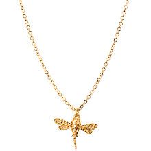 Buy Mirabelle 22ct Gold Plated Dragonfly Pendant Necklace, Gold Online at johnlewis.com