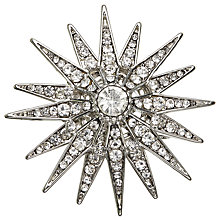 Buy John Lewis Vintage Star Brooch, Silver Online at johnlewis.com