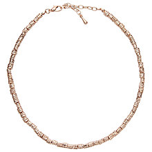 Buy John Lewis Layered Textured Bead Necklace, Rose Gold/Silver Online at johnlewis.com