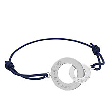 Buy Message by Merci Maman Love You To The Moon and Back Charm Bracelet Online at johnlewis.com