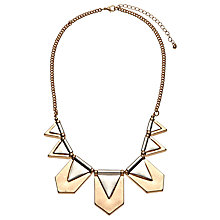 Buy John Lewis Aztec Fan Necklace, Gold Online at johnlewis.com
