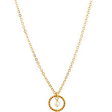 Buy Mirabelle 22ct Gold Plated Alexis Freshwater Pearl Rope Pendant Necklace, Gold Online at johnlewis.com