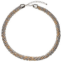 Buy John Lewis Metallic Bead Collar Necklace, Multi Online at johnlewis.com
