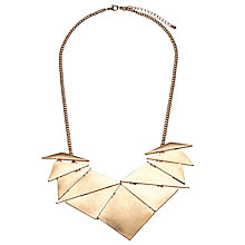 Buy John Lewis Abstract Fan Necklace, Gold Online at johnlewis.com