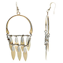 Buy John Lewis Fringe Drop Earrings, Gold/Silver Online at johnlewis.com