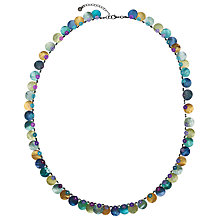 Buy One Button Long Mother of Pearl Disc Necklace Online at johnlewis.com