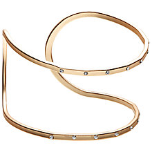 Buy John Lewis Double Diamante Cut Out Cuff, Gold Online at johnlewis.com