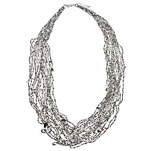 Buy John Lewis Long Layered Bead Statement Necklace, Grey Online at johnlewis.com