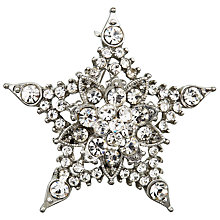 Buy John Lewis Glass Star Brooch, Silver Online at johnlewis.com