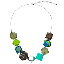 Buy One Button Multi Faceted Large Beads Necklace, Green/Multi Online at johnlewis.com