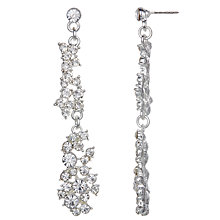 Buy John Lewis Cubic Zirconia and Glass Stone Long Cluster Drop Earrings, Silver Online at johnlewis.com