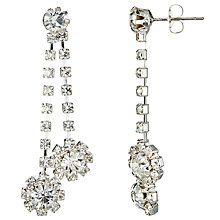 Buy John Lewis Double Chain Cubic Zirconia Long Drop Earrings, Silver Online at johnlewis.com