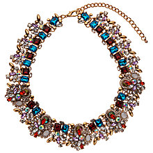 Buy John Lewis Statement Glass Stone Collar Necklace, Red/Multi Online at johnlewis.com