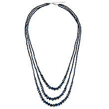 Buy John Lewis Long Graduating Bead Layered Necklace, Navy Online at johnlewis.com