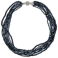 Buy John Lewis Short Sparkle Layered Collar Necklace, Navy Online at johnlewis.com