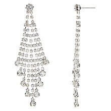 Buy John Lewis Statement Cubic Zirconia Waterfall Drop Earrings, Silver Online at johnlewis.com