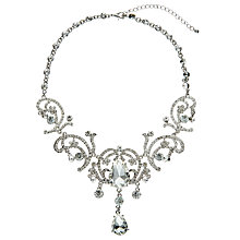 Buy John Lewis Statement Pear Drop Glass and Cubic Zirconia Necklace, Silver Online at johnlewis.com