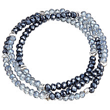 Buy John Lewis Wrap Around Glass Gem Bead Bracelet, Navy/Aqua Online at johnlewis.com
