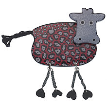 Buy One Button Resin Cow Brooch, Pink/Grey Online at johnlewis.com