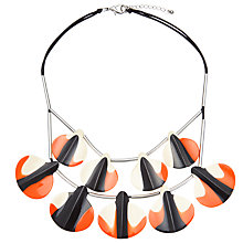 Buy One Button Two Tone Double Layered Droplets Necklace, Black/Orange Online at johnlewis.com