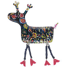 Buy One Button Resin Reindeer Brooch, Multi Online at johnlewis.com