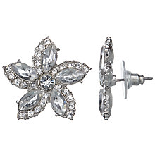 Buy John Lewis Glass Flower Stud Earrings, Silver Online at johnlewis.com