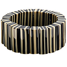 Buy One Button Striped Zebra Beads Stretch Bracelet, Black/Cream Online at johnlewis.com