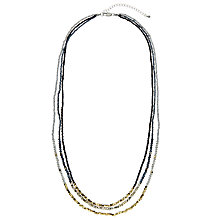 Buy John Lewis Long Multi Bead Sparkle Layered Necklace, Multi Online at johnlewis.com