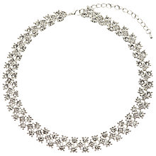 Buy John Lewis Glass Stone Collar Necklace, Silver Online at johnlewis.com