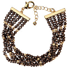 Buy John Lewis Multi Row Sparkle Bead Bracelet Online at johnlewis.com