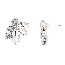 Buy John Lewis Crystal Stud Earrings, Silver/Clear Online at johnlewis.com