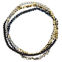 Buy John Lewis Trio Multi Pack Sparkle Bracelets, Multi Online at johnlewis.com