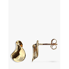 Buy Nina B 9ct Gold Twisted Stud Earrings, Gold Online at johnlewis.com