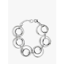 Buy Nina B Sterling Silver Open Circles Bracelet, Silver Online at johnlewis.com