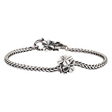 Buy Trollbeads Lucky Friends Flower Charm Bracelet, Silver Online at johnlewis.com