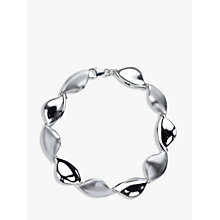 Buy Nina B Sterling Silver Leaf Bracelet, Silver Online at johnlewis.com