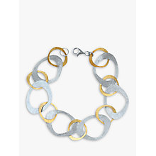 Buy Nina B Open Link Bracelet, Silver/Gold Online at johnlewis.com