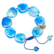 Buy Lola Rose Reagan Bracelet, Blue Agate Online at johnlewis.com