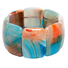 Buy Lola Rose Danni Chunky Agate Bracelet, Multi Online at johnlewis.com