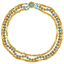Buy Eclectica Vintage 1950s Robert Gold Plated Turquoise Necklace, Turquoise Online at johnlewis.com