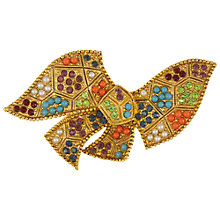 Buy Eclectica Vintage 1960s Gold Plated Abstract Brooch, Multi Online at johnlewis.com