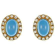 Buy Eclectica Vintage 1970s Gold Plated Atwood and Sayer Clip On Earrings, Turquoise Online at johnlewis.com