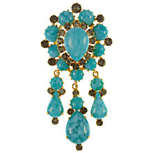 Buy Eclectica Vintage 1960s Turquoise Drop Brooch, Turquoise Online at johnlewis.com
