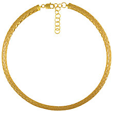 Buy Eclectica Vintage 1980s Italian Gold Plated Collar Necklace, Gold Online at johnlewis.com