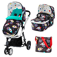 Buy Cosatto Giggle 2 Pushchair Complete Set with Carrycot and Changing Bag, Space Racers Online at johnlewis.com