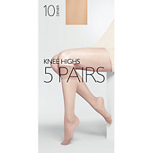 Buy John Lewis 10 Denier Knee High Socks, Pack of 5 Online at johnlewis.com