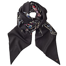 Buy Ted Baker Treasured Trinkets Skinny Scarf, Black/Multi Online at johnlewis.com