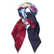 Buy Ted Baker Blushing Bouquet Skinny Scarf, Navy/Multi Online at johnlewis.com