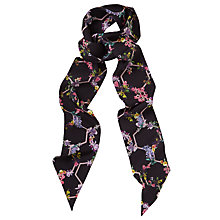 Buy Ted Baker Lost Garden Skinny Scarf, Black/Multi Online at johnlewis.com