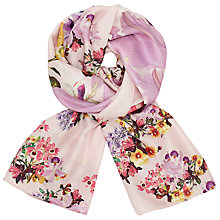 Buy Ted Baker Lost Garden Long Silk Scarf Online at johnlewis.com